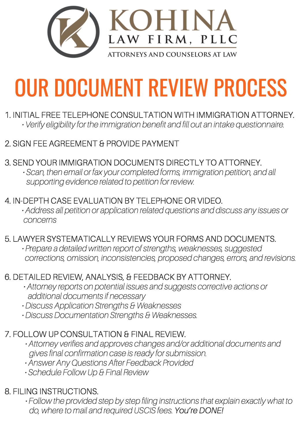 Affordable Immigration Application and Form Review - N-400, I-129, I-130