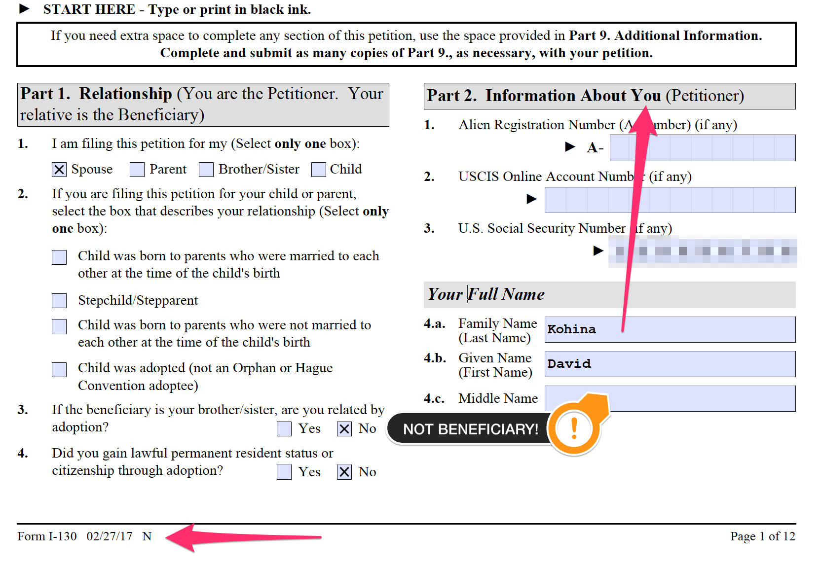 How To Fill Form I 130 And 130A